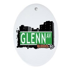 GLENN AVENUE, QUEENS, NYC Oval Ornament