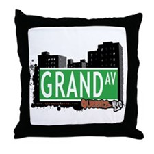 GRAND AVENUE, QUEENS, NYC Throw Pillow
