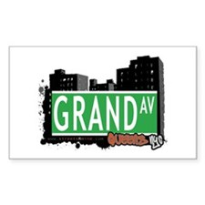 GRAND AVENUE, QUEENS, NYC Rectangle Decal