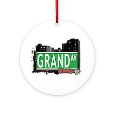 GRAND AVENUE, QUEENS, NYC Ornament (Round)