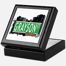 GRAYSON STREET, QUEENS, NYC Keepsake Box