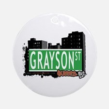 GRAYSON STREET, QUEENS, NYC Ornament (Round)