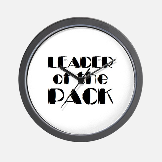 leader of pack Wall Clock