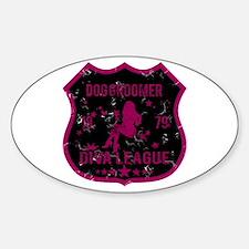 Dog Groomer Diva League Oval Decal