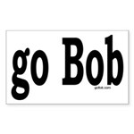 go Bob Rectangle Sticker