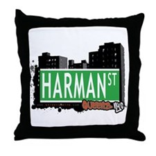 HARMAN STREET, QUEENS, NYC Throw Pillow
