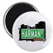 "HARMAN STREET, QUEENS, NYC 2.25"" Magnet (100 pack)"