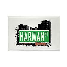 HARMAN STREET, QUEENS, NYC Rectangle Magnet