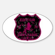 Editor Diva League Oval Decal