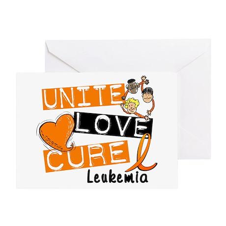 Unite Love Cure Leukemia Greeting Card