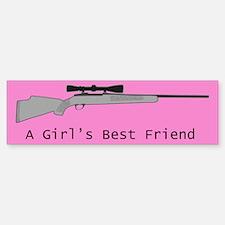 A Girl's Best Friend Bumper Sticker - Pink