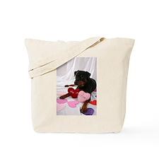 Rottie Valentine Tote Bag
