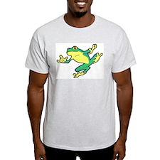 ASL Frog in Flight Ash Grey T-Shirt