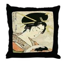 Midoriki Throw Pillow