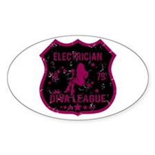 Electrician Diva League Oval Decal