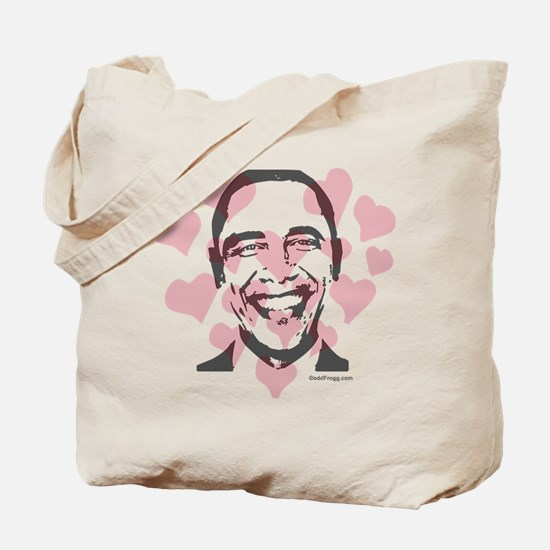 oddfrogg Obama Valentine Tote Bag