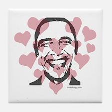 oddfrogg Obama Valentine Tile Coaster