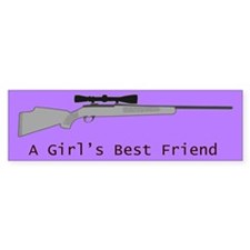 A Girl's Best Friend Bumper Sticker - Purple