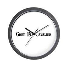 Grey Elf Cavalier Wall Clock