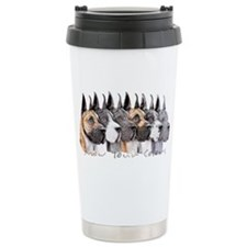 Great Dane Group Show Colors Travel Mug
