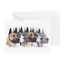 Great Dane Group Show Colors Greeting Card