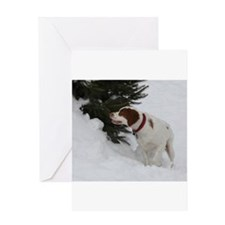 Hunting Brittany Greeting Card
