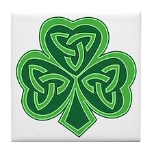 Celtic Knot Shamrock Tile Coaster