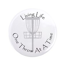"Disc Golf 3.5"" Button"