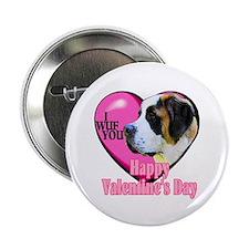"""Saint Bernard Valentines 2.25"""" Button (10 pack)"""