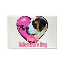 Saint Bernard Valentines Rectangle Magnet (10 pack