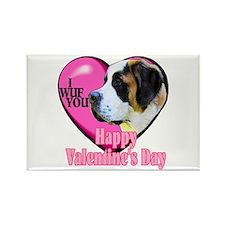 Saint Bernard Valentines Rectangle Magnet (100 pac