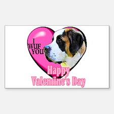 Saint Bernard Valentines Rectangle Sticker 10 pk)