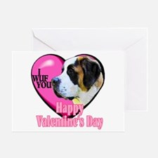 Saint Bernard Valentines Greeting Card