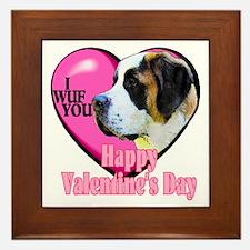 Saint Bernard Valentines Framed Tile