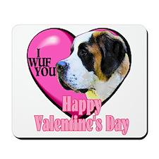 Saint Bernard Valentines Mousepad