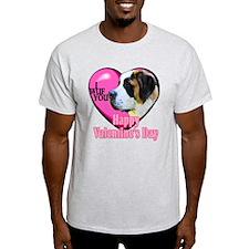 Saint Bernard Valentines T-Shirt
