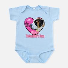 Saint Bernard Valentines Infant Bodysuit