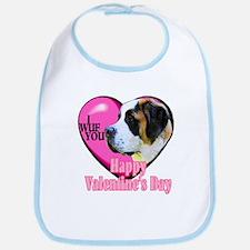Saint Bernard Valentines Bib