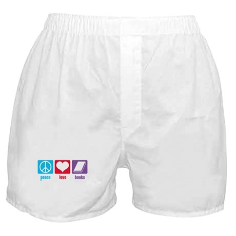 Peace Love Books Boxer Shorts