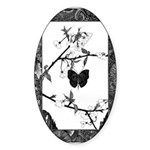 The Butterfly Oval Sticker