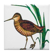 Snipe Wading Bird Tile Coaster