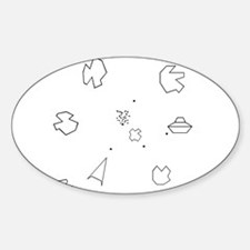 Asteroids Oval Decal