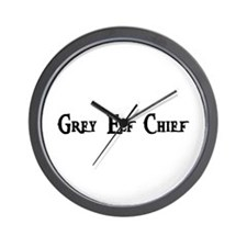 Grey Elf Chief Wall Clock