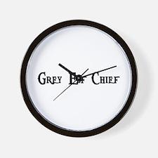 Grey Elf Chief Wall Clock