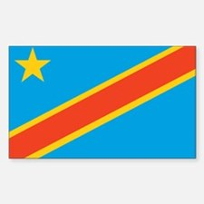 Congo, Democratic Republic of Rectangle Decal