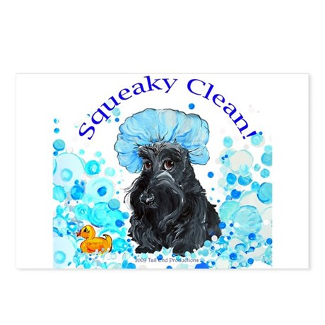 Scottish Terrier Bubble Bath Postcards (Package of