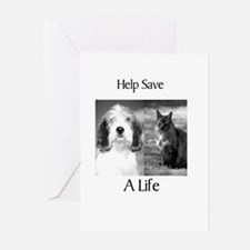 Help Save A Pets Life Greeting Cards (Pk of 20)