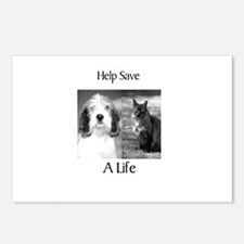 Help Save A Pets Life Postcards (Package of 8)