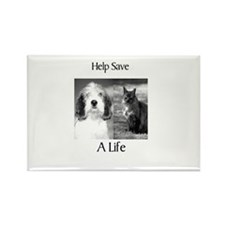Help Save A Pets Life Rectangle Magnet