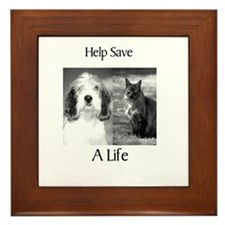 Help Save A Pets Life Framed Tile